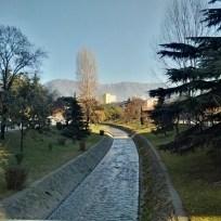 Der Fluss Lana in Tirana