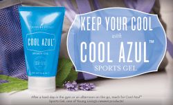 Cool Azul Sports Gel