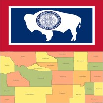 Flag_wyoming-county-map