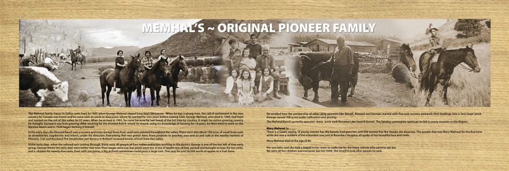 Memhals pioneer family in Grand Forks BC
