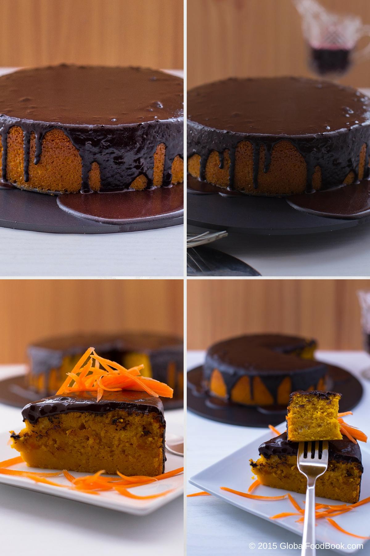 Brazilian Carrot Cake With Chocolate Icing