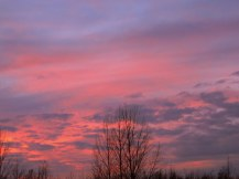 Sunset #2 - the sky just kept getting pinker and redder, and more beautiful