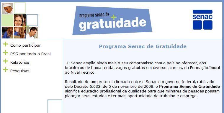 Cursos online grátis com certificado no Senac