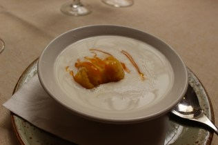 la lluna coconut soup and sorbet