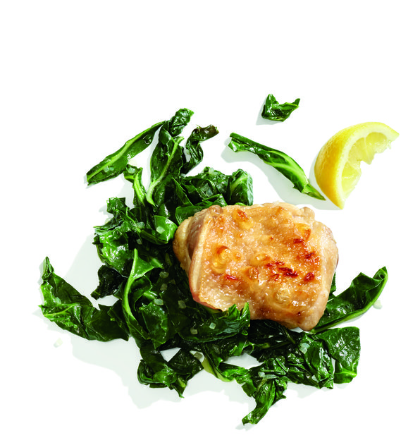 Gluten-Free Broiled Chicken with Braised Greens Recipe
