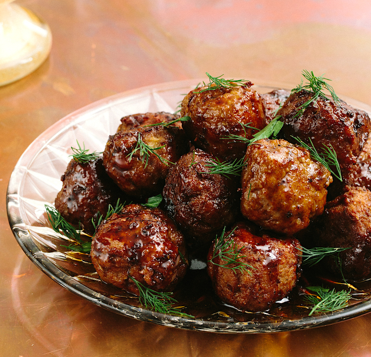Pomegranate-Glazed Turkey Meatballs Recipe