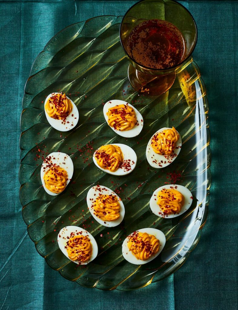 Harissa Deviled Eggs Recipe