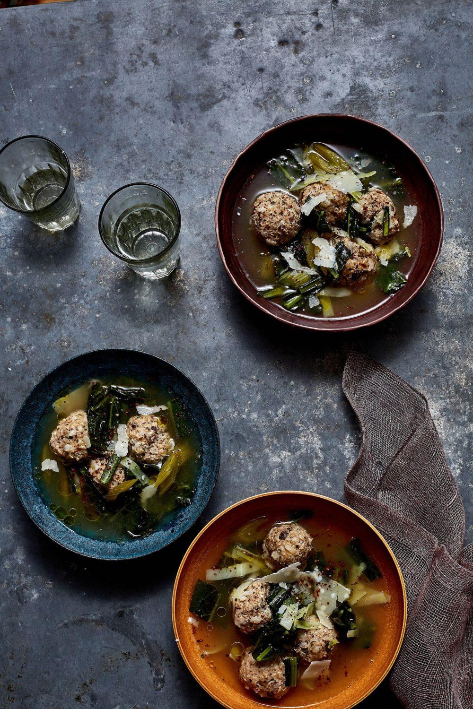 Minestra Maritata with Chicken Meatball