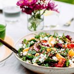 Roasted Beets Quinoa and Greens