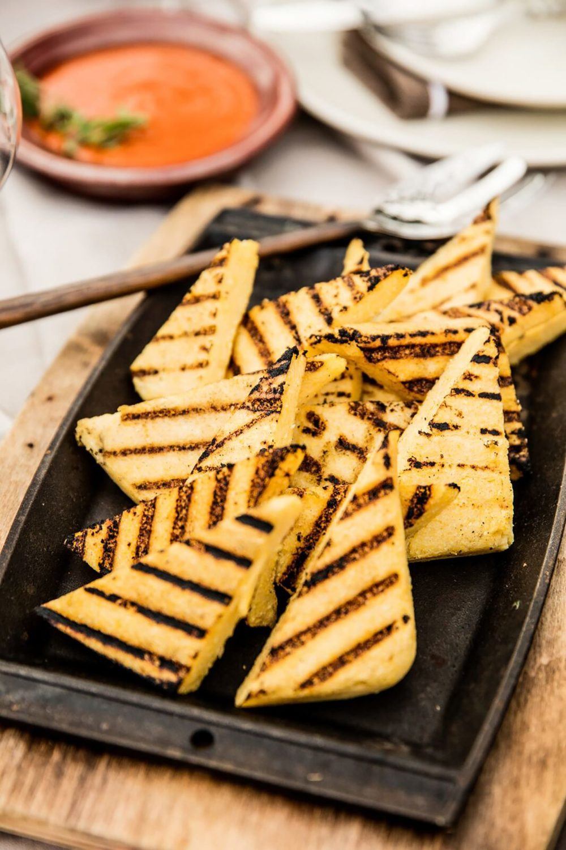 grilled polenta cakes