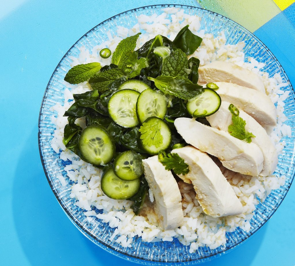 Poached Chicken with Amaranth Rice and Fish-Sauce Citronette Gluten-Free Recipe