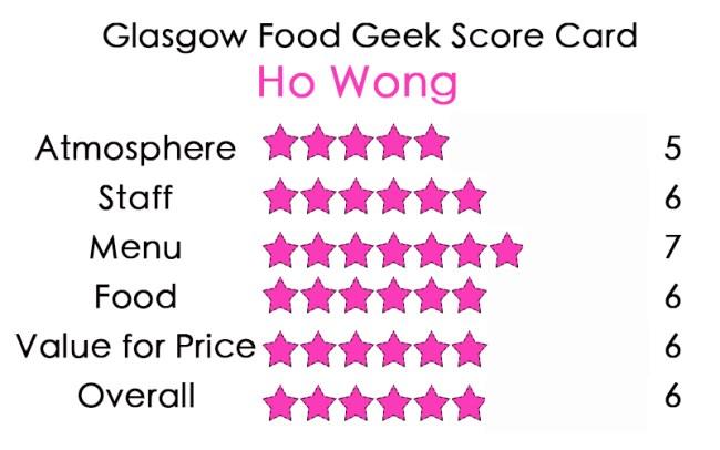 Ho Wong glasgow food geek