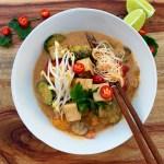 Crispy Tofu & Pumpkin Laksa {gluten free}
