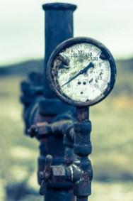 Otra válvula, a la salida de la tuberia por la que se bombeaba el petróleo.