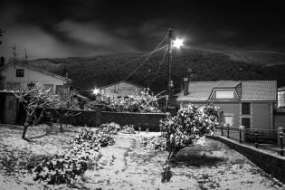 La huerta de enfrente de mi casa. Una vez al año, con suerte, vemos la nieve.