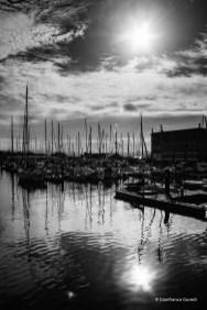 Paisaje urbano de puerto.