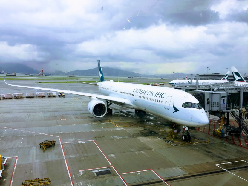 Cathay Pacific's last day in the Hang Seng index