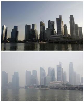 Worst Haze From Indonesia In 4 Years Hits Neighbors Hard Photo: Vivek Prakash