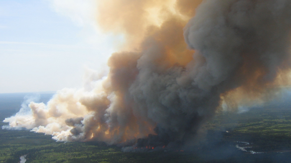 A 3,500-hectare fire continued to consume forest near Berens River First Nation on Thursday.