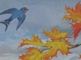 рисунки к стихотворению листок тютчев может покинуть матку