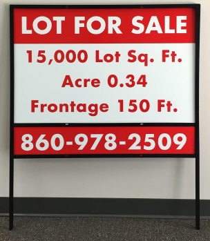 Lawn Sign with Frame in South Windsor, CT