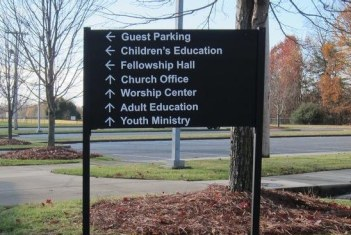 Post and Panel sign in Windsor, CT