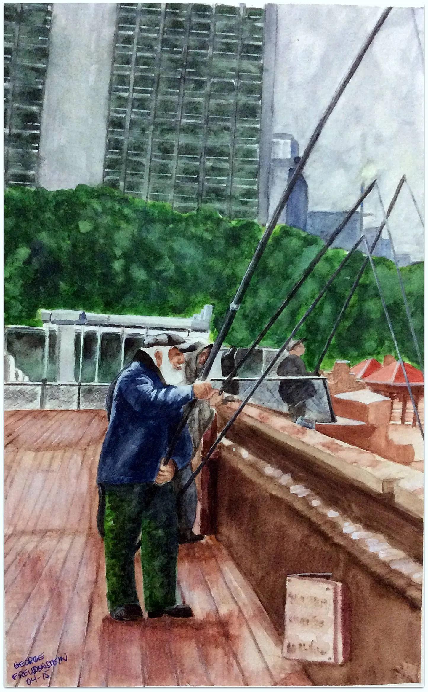 FISHING OFF TEL AVIV BOARDWALK