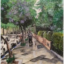 WALKING BETWEEN THE RAINDROPS (Yehoshua Bin Nun Street)