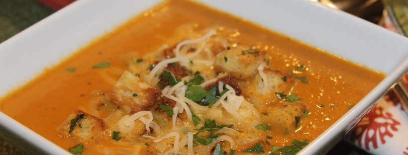 Spicy, Hearty, Gluten-Free Tomato Bisque Soup