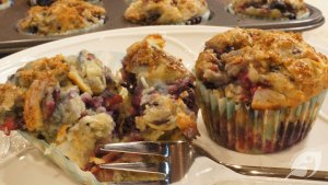 Gluten-Free Triple Berry Coconut Muffins