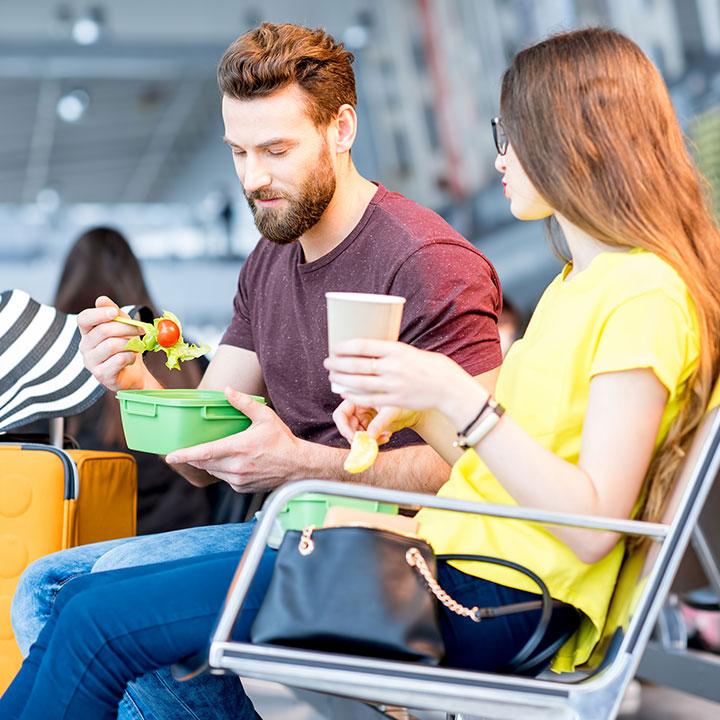 Gluten-Free Travel - Couple Eating