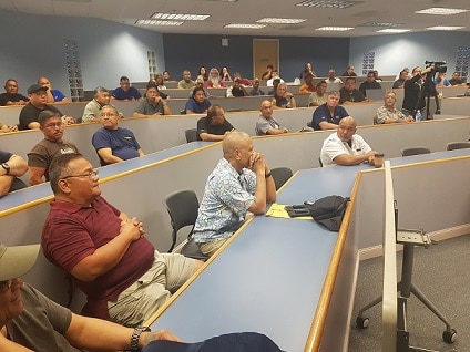 GFT MEETING FILLED WITH OFFICERS CONCERNED WITH RETIREMENT