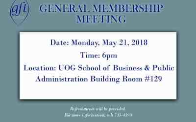 GENERAL MEMBERSHIP MEETING MOVED TO MAY 21