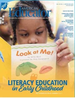 CHECK OUT THE NEW ISSUE OF AMERICAN EDUCATOR