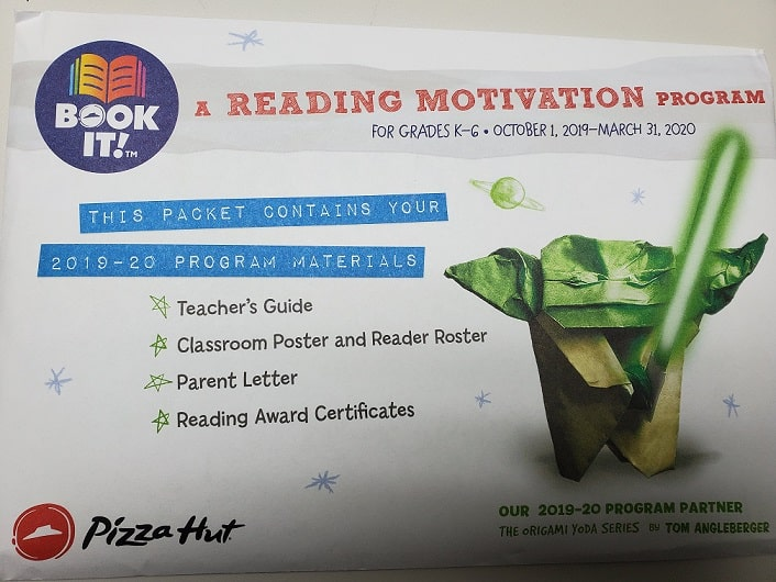 PIZZA HUT BOOK-IT! PACKETS NOW AVAILABLE