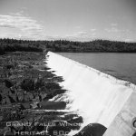 Mill General - Dam and Forebay. September 1956