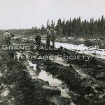 Rattling Brook Department. John Curlew's Hauling Road. February 27, 1955