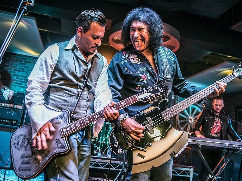 Johnny Depp i Gene Simmons zagrali utwory Kiss