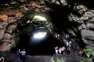 LANZAROTE: Den mystiske hulen Jameos del Aqua. Foto: JOHN TERJE PEDERSEN/Dagbladet
