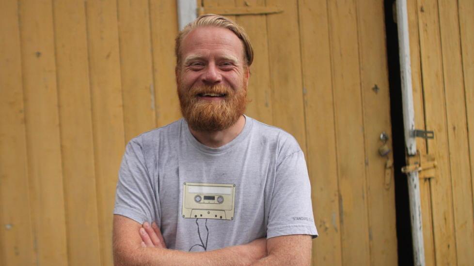 Glad sjef: Christoffer Rød har vært sjef for suksessen Slottsfjellfestivalen i ti år. Foto: Anders Fjellberg/Dagbladet