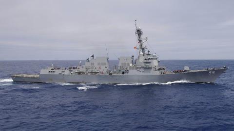 STRÅLING: Strålingen kom fra destroyeren USS Farragut. Foto: US NAVY