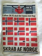The Berlingske Tidendes front page