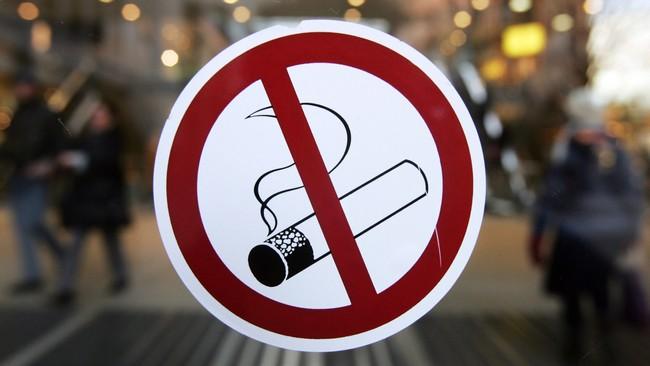 Røyking forbudt (Foto: JOHN MACDOUGALL/AFP)