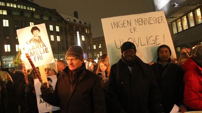 Demonstrasjon for Marie Amelie i Oslo (Foto: Helge Carlsen/NRK)