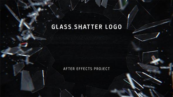 VIDEOHIVE GLASS SHATTER LOGO