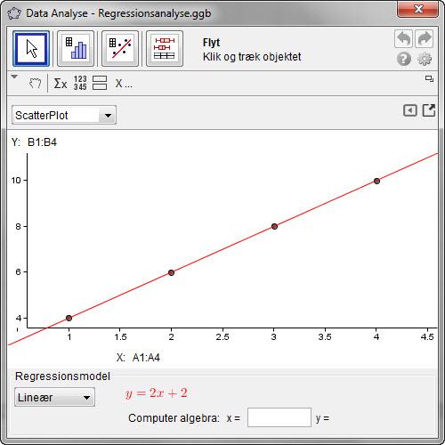 Sådan laves en regressionsanalyse | ggbkursus.dk