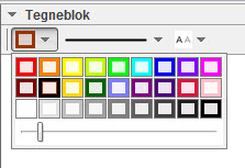 Cirkeldiagram - farver for cirkeludsnit