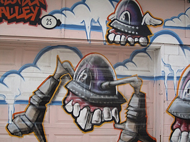 Flying Teeth Lil Peeps Graffiti Easter Island GG Gracia