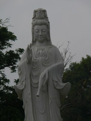 Buddhist statue on West Side of West Lake, Hanoi