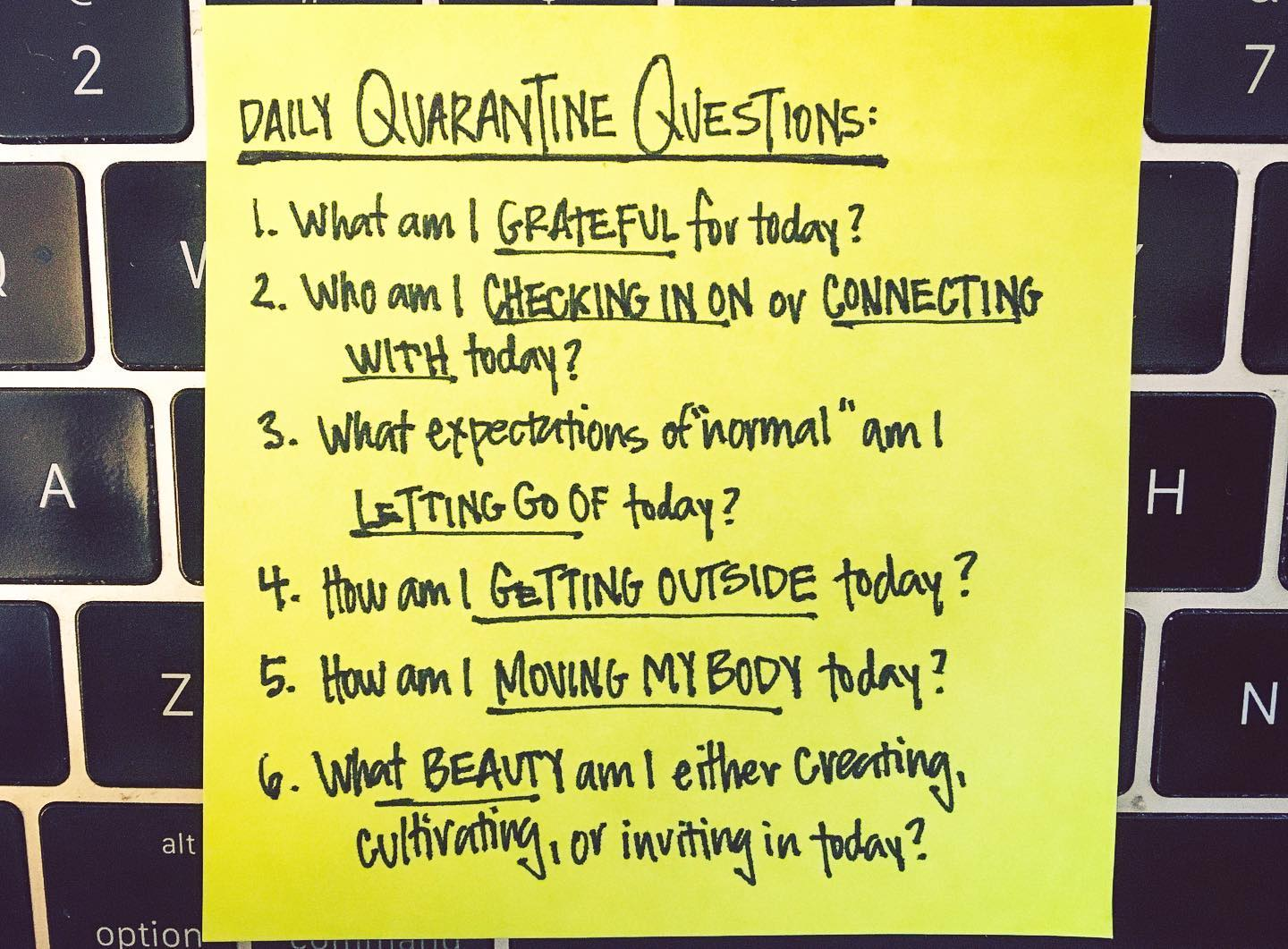 Six Daily Questions To Ask Yourself In Quarantine